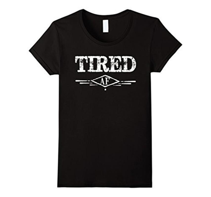 Men's Tired AF Funny Napping Napper Nap time Lazy TShirt-T-Shirt-BelDisegno-Black-2XL-BelDisegno