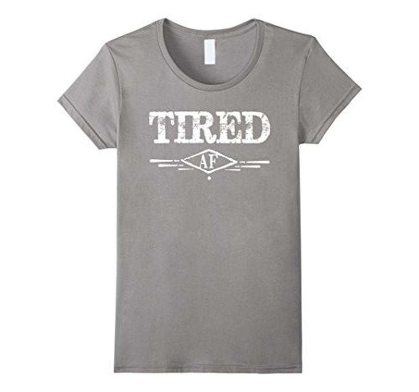 Men's Tired AF Funny Napping Napper Nap time Lazy TShirt-T-Shirt-BelDisegno-Heather Grey-S-BelDisegno