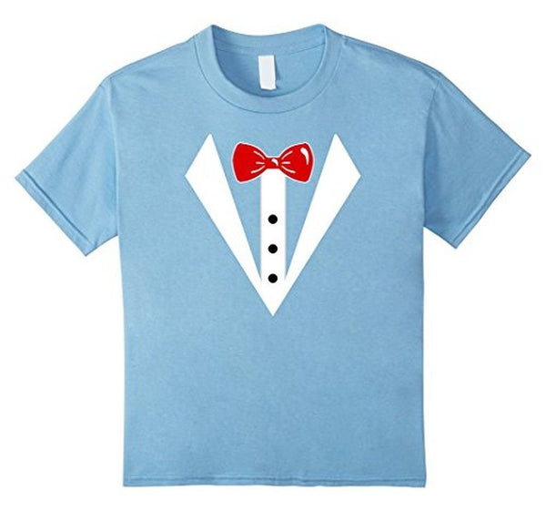 Tuxedo Printed Suit & Tie Funny Business T-shirt Baby Blue / 3XL T-Shirt BelDisegno