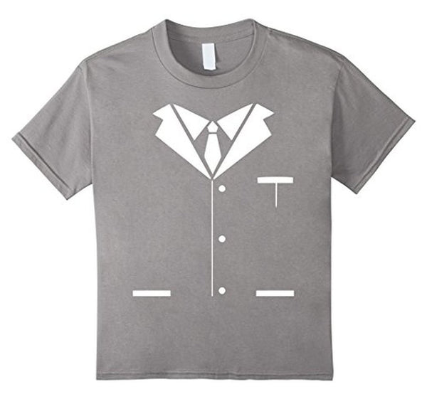 Tuxedo Printed Suit & Tie Funny Business T-shirt Heather Grey / 3XL T-Shirt BelDisegno