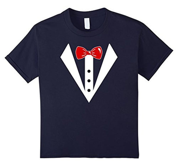 Tuxedo Printed Suit & Tie Funny Business T-shirt Navy / 3XL T-Shirt BelDisegno