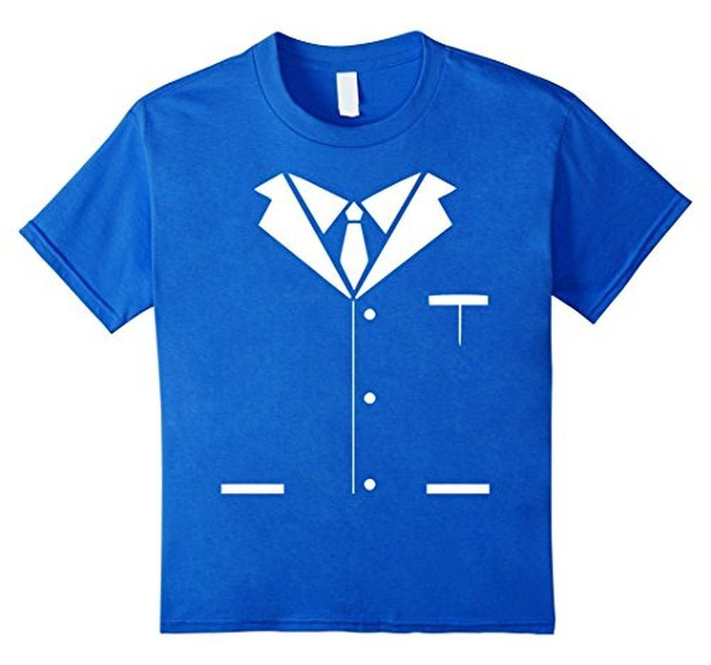 Tuxedo Printed Suit & Tie Funny Business T-shirt Royal Blue / 3XL T-Shirt BelDisegno