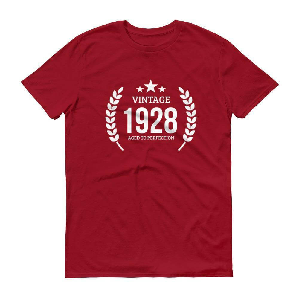 Mens 1928 Tshirt Birthday Gift Ideas 90 Independence Red 3XL T Shirt