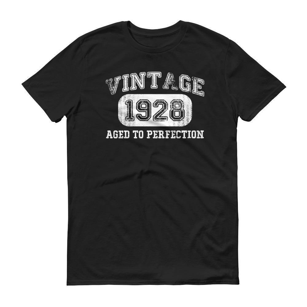Men's 1928 Tshirt 90th birthday ideas for grandpa Black / 3XL T-Shirt BelDisegno