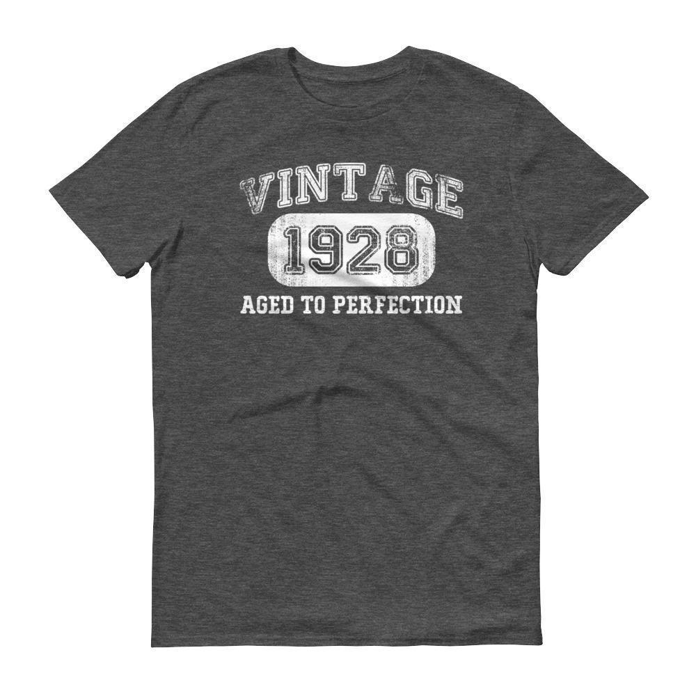 Men's 1928 Tshirt 90th birthday ideas for grandpa Heather Dark Grey / 3XL T-Shirt BelDisegno