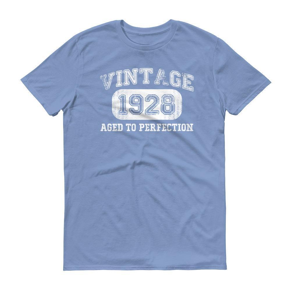 Men's 1928 Tshirt 90th birthday ideas for grandpa Light Blue / 3XL T-Shirt BelDisegno