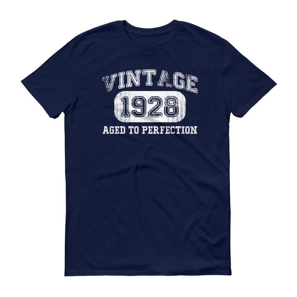 Men's 1928 Tshirt 90th birthday ideas for grandpa Navy / 3XL T-Shirt BelDisegno