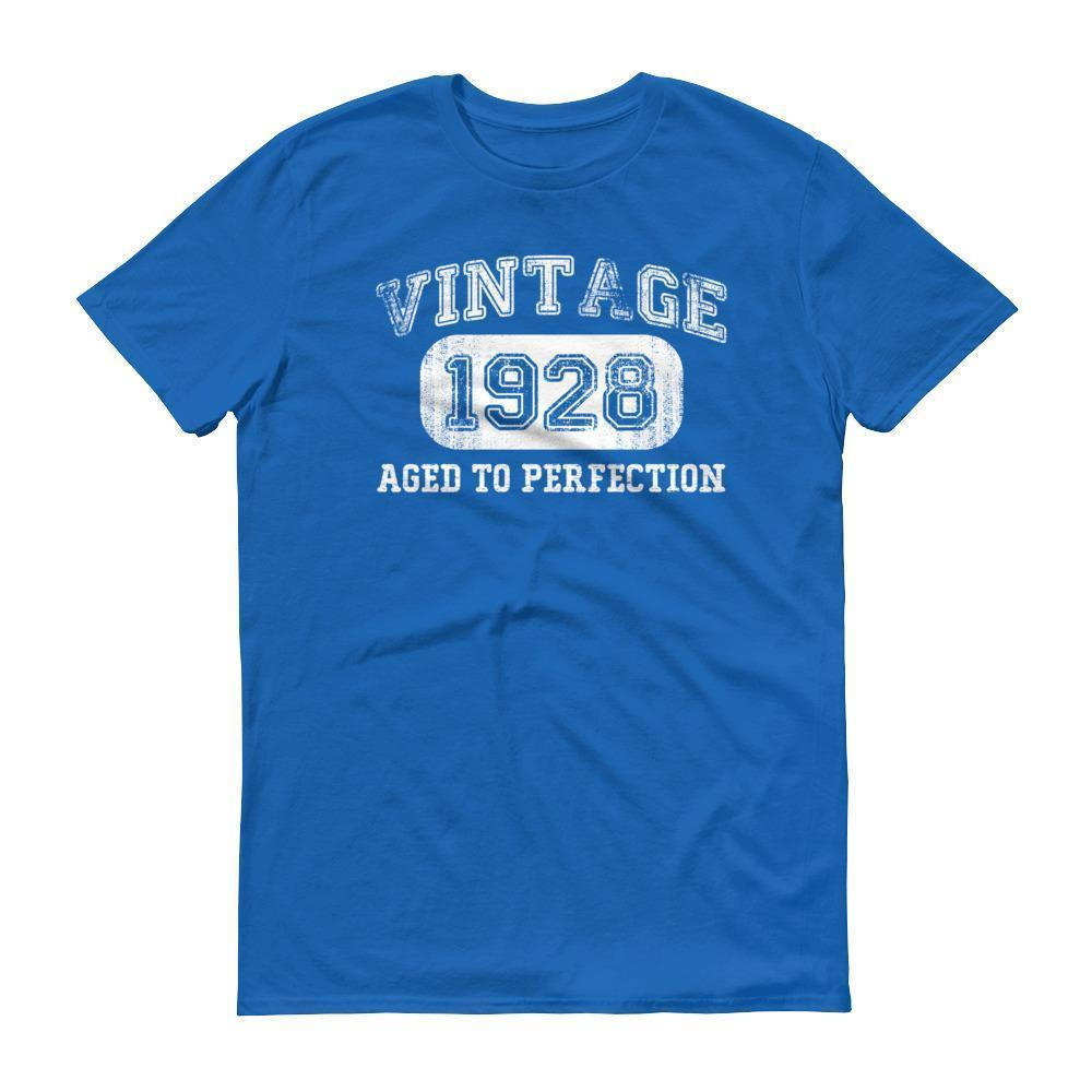 Men's 1928 Tshirt 90th birthday ideas for grandpa Royal Blue / 3XL T-Shirt BelDisegno