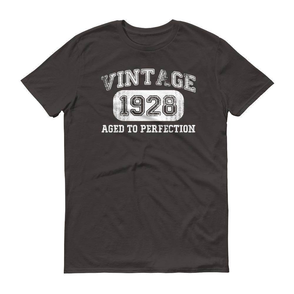 Men's 1928 Tshirt 90th birthday ideas for grandpa Smoke / 3XL T-Shirt BelDisegno