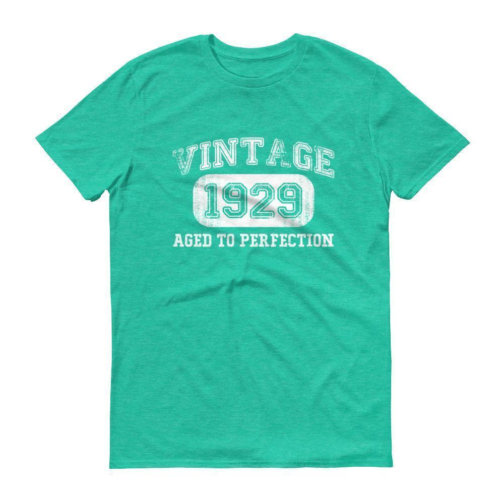 Men's 1929 Tshirt 89th birthday ideas for grandpa Heather Green / 3XL T-Shirt BelDisegno