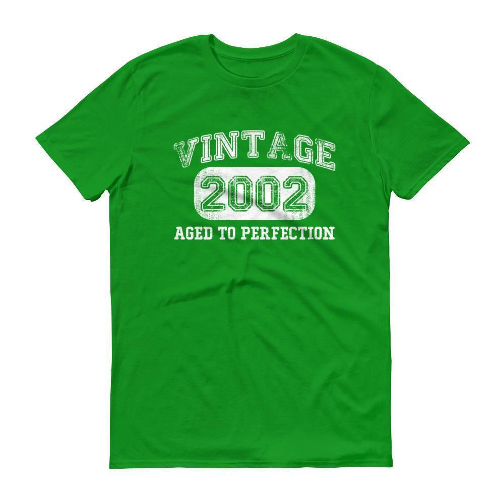 Born in 2002 Tshirt 2002 birthday gift Color: Black, Smoke, Heather Dark Grey, Navy, Lake, Heather Blue, Heather Purple, Royal Blue, Heather Green, Light Blue, Caribbean Blue, Heather RedSize: S, M, L, XL, 2XL, 3XL