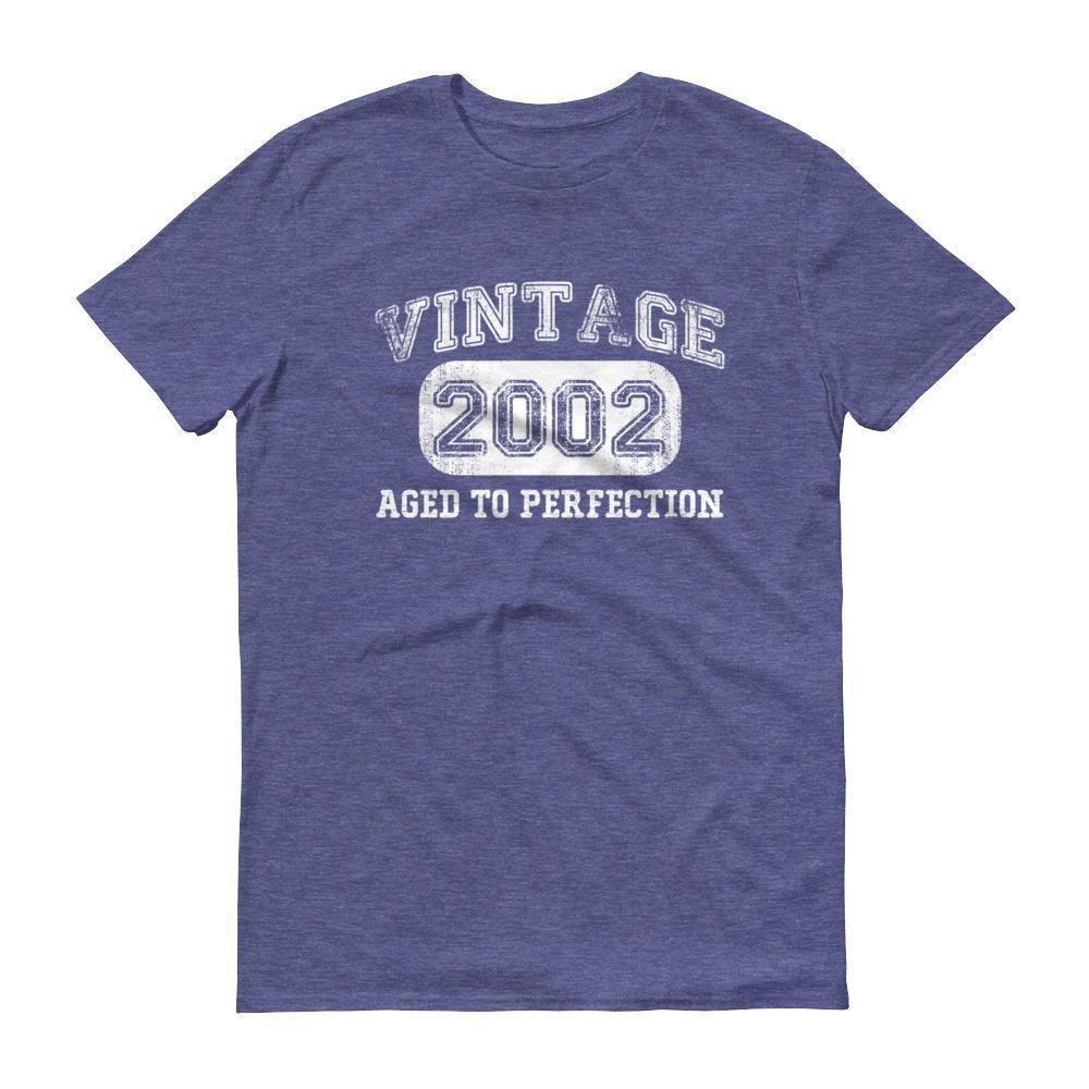 Born in 2002 Tshirt 2002 birthday gift Color: Heather BlueSize: S