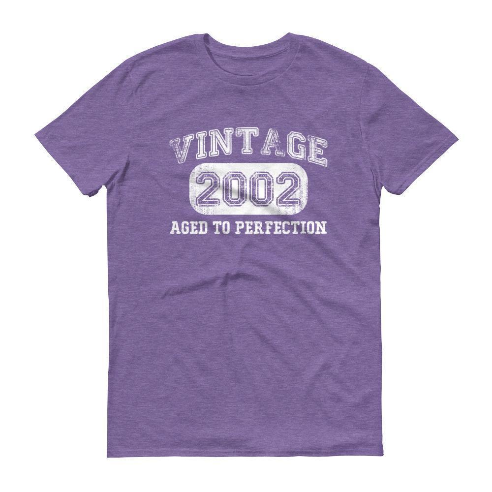 Born in 2002 Tshirt 2002 birthday gift Color: Heather PurpleSize: S