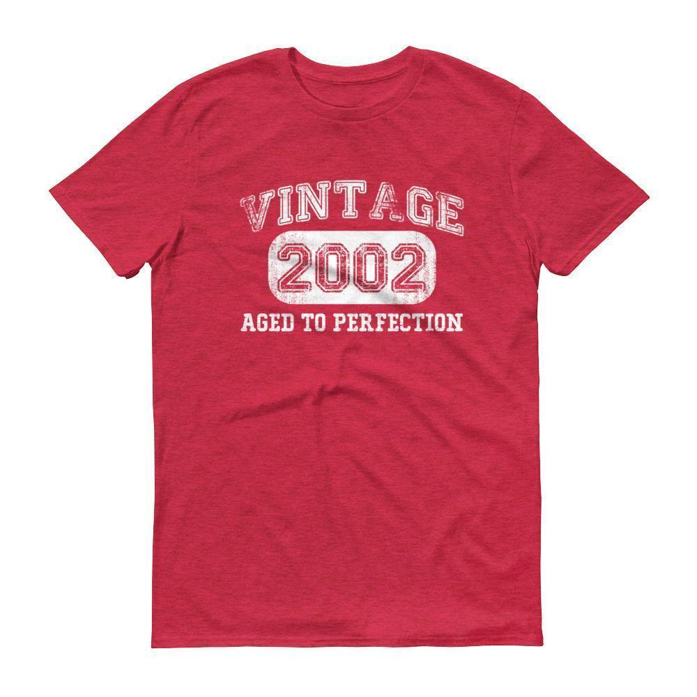 Born in 2002 Tshirt 2002 birthday gift Color: Heather RedSize: S