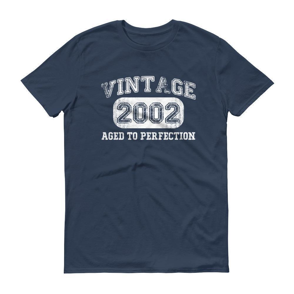 Born in 2002 Tshirt 2002 birthday gift Color: LakeSize: S