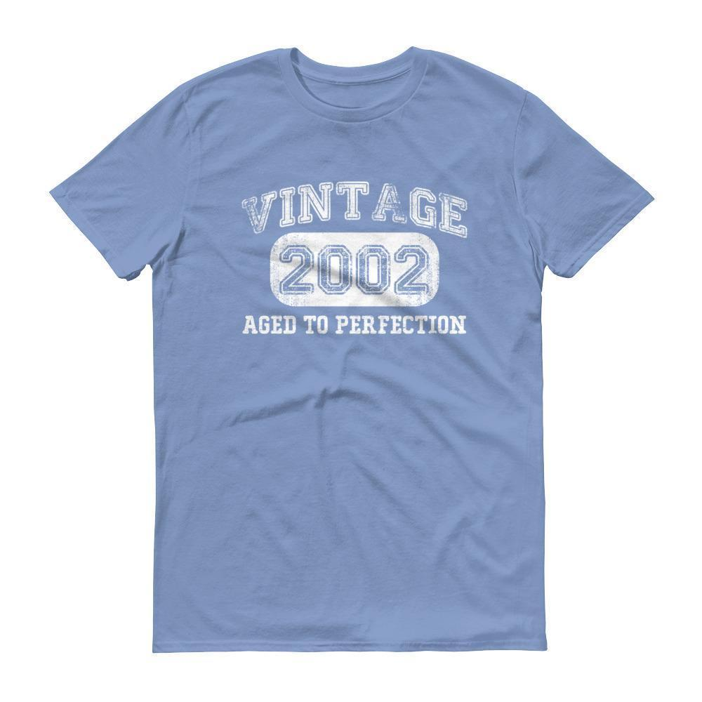 Born in 2002 Tshirt 2002 birthday gift Color: Light BlueSize: S