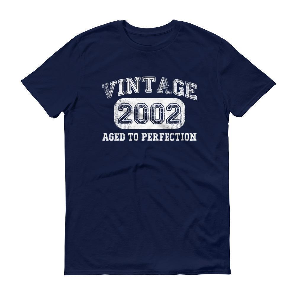 Born in 2002 Tshirt 2002 birthday gift Color: NavySize: S