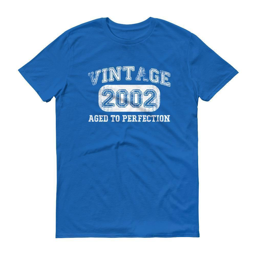 Born in 2002 Tshirt 2002 birthday gift Color: Royal BlueSize: S