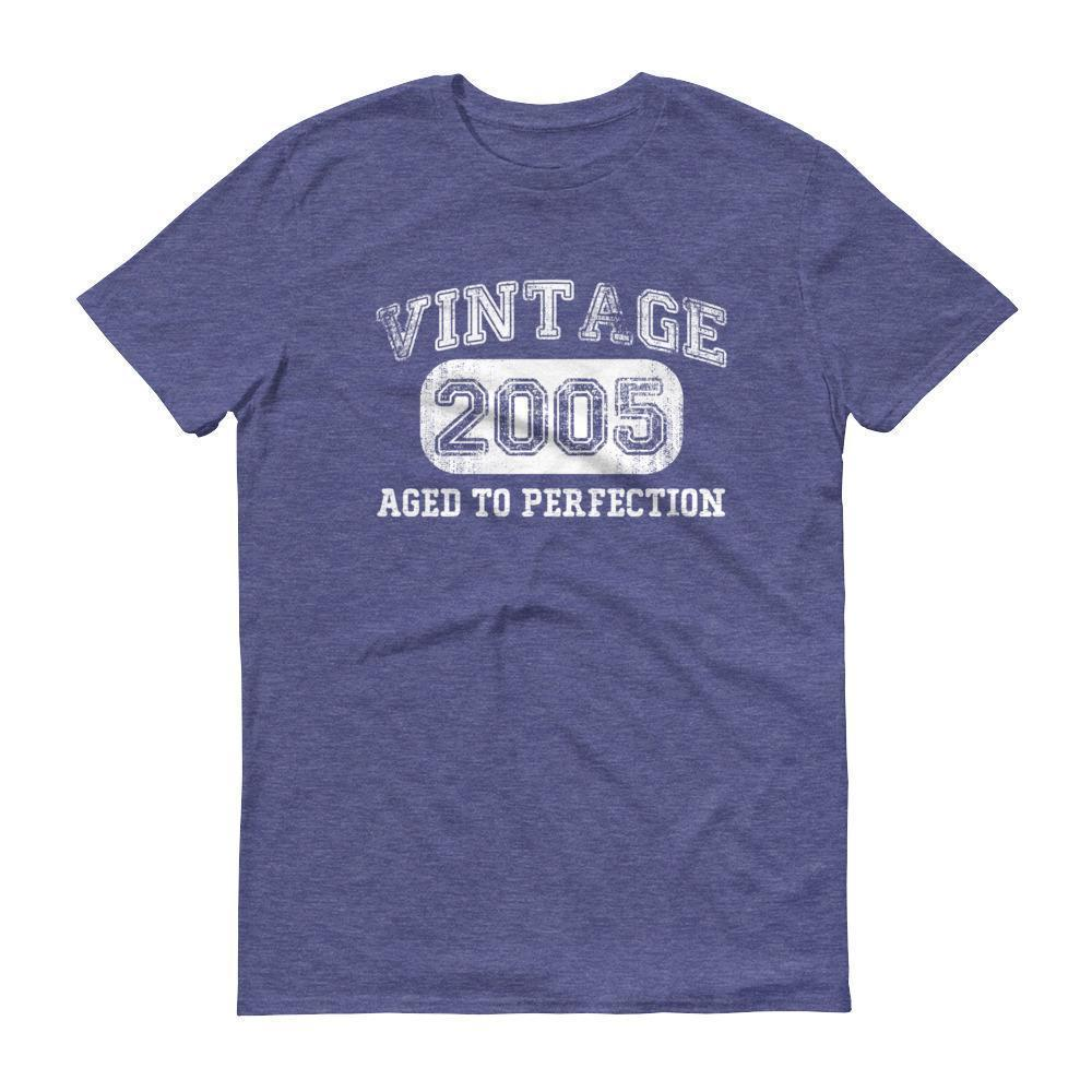 Born in 2005 Tshirt 2005 birthday gift Color: Heather BlueSize: S