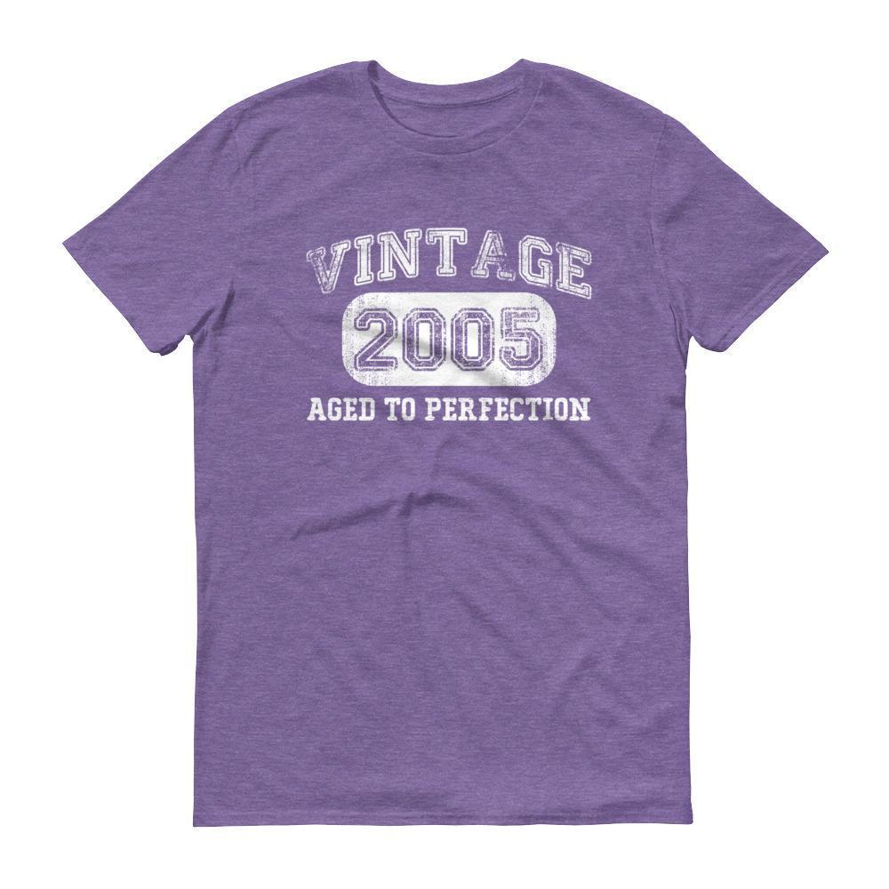 Born in 2005 Tshirt 2005 birthday gift Color: Heather PurpleSize: S