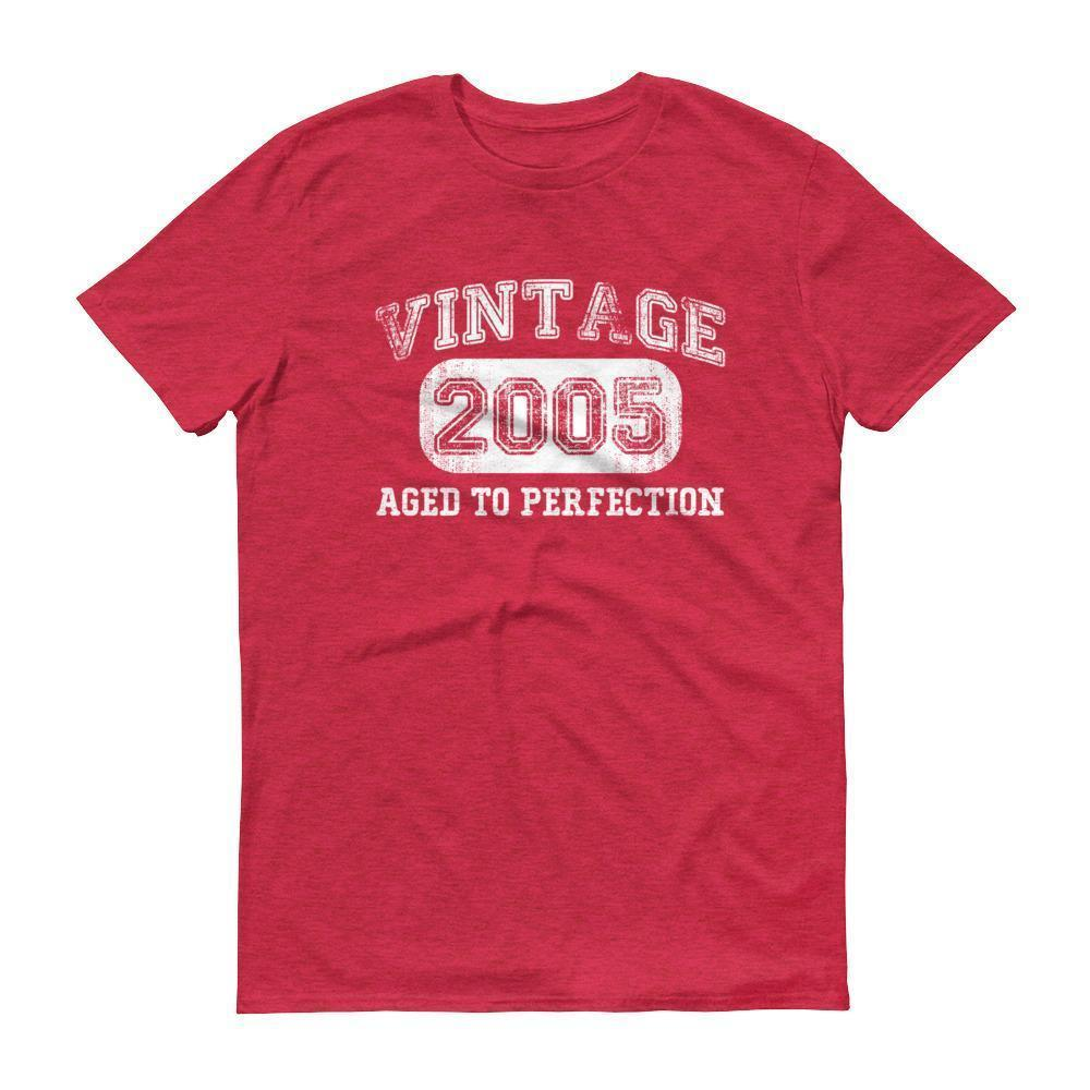 Born in 2005 Tshirt 2005 birthday gift Color: Heather RedSize: S