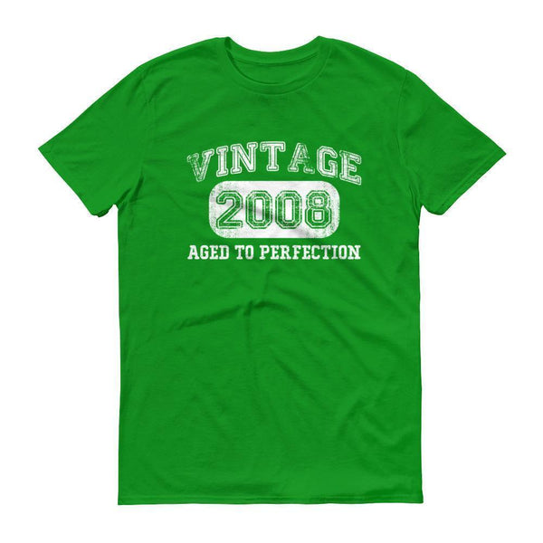 Men's Vintage 2008 Tshirt 2008 birthday gift-T-Shirt-BelDisegno-Green Apple-S-BelDisegno