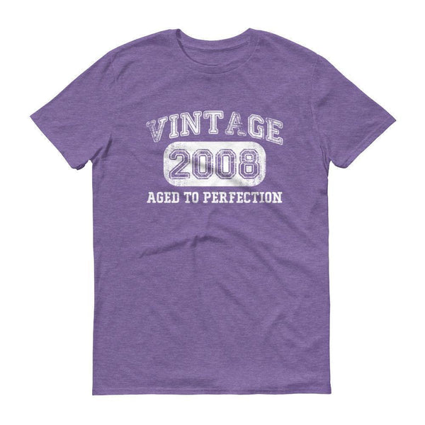 Men's Vintage 2008 Tshirt 2008 birthday gift-T-Shirt-BelDisegno-Heather Purple-S-BelDisegno