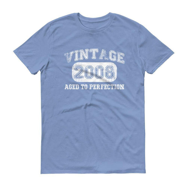 Men's Vintage 2008 Tshirt 2008 birthday gift-T-Shirt-BelDisegno-Light Blue-S-BelDisegno