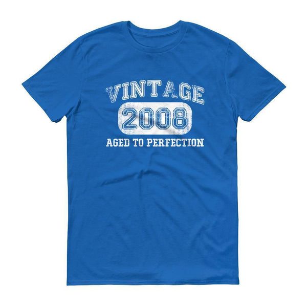 Men's Vintage 2008 Tshirt 2008 birthday gift-T-Shirt-BelDisegno-Royal Blue-S-BelDisegno