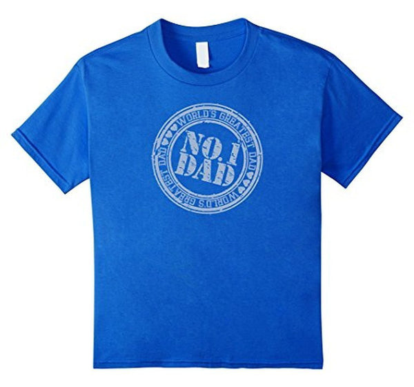 Men's World's Greatest Dad #1 DAD Birthday Gifts Father's day Gift TShirt-T-Shirt-BelDisegno-Royal Blue-S-BelDisegno