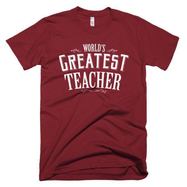 Men's World's Greatest Teacher gift TShirt-T-Shirt-BelDisegno-Cranberry-S-Men-BelDisegno