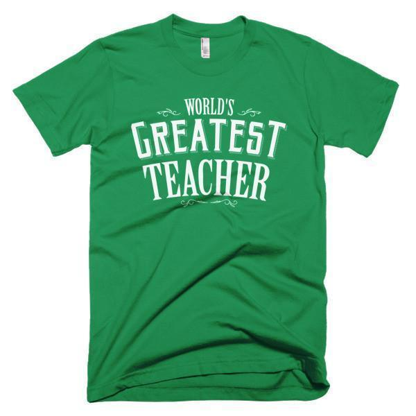 Men's World's Greatest Teacher gift TShirt-T-Shirt-BelDisegno-Kelly Green-S-Men-BelDisegno