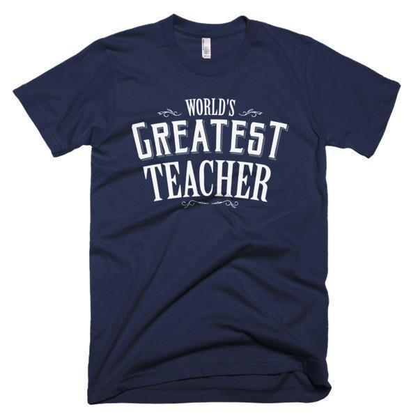 Men's World's Greatest Teacher gift TShirt-T-Shirt-BelDisegno-Navy-S-Men-BelDisegno