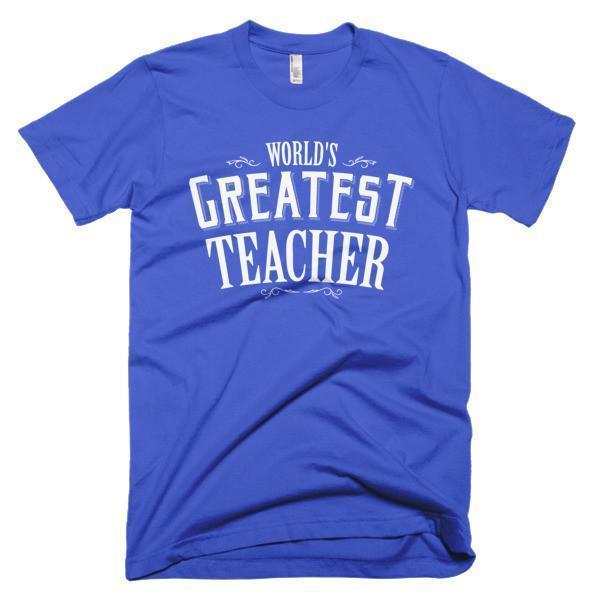 Men's World's Greatest Teacher gift TShirt-T-Shirt-BelDisegno-Royal Blue-S-Men-BelDisegno