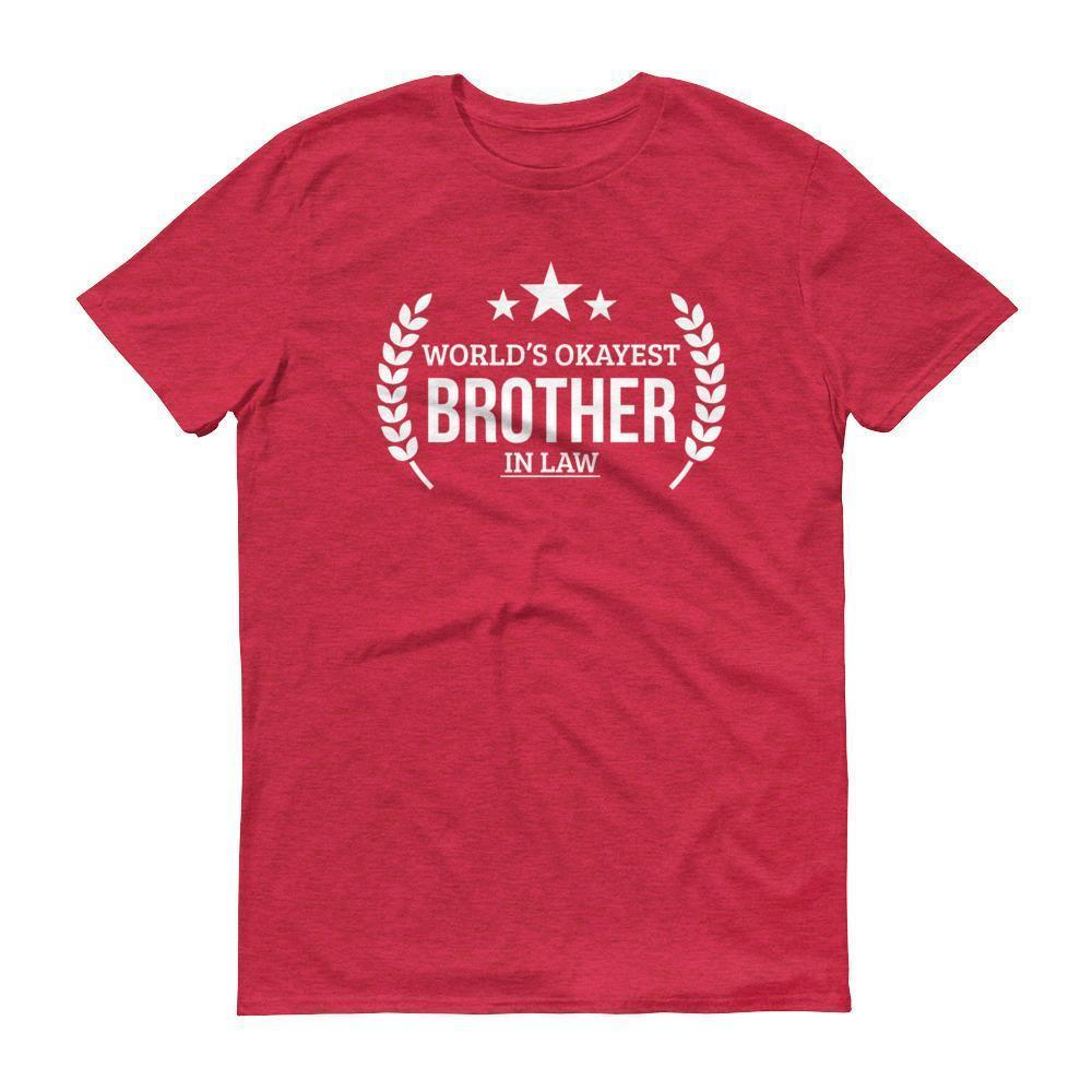 Mens Worlds Okayest Brother In Law Tshirt Gift Ideas For Birthday T