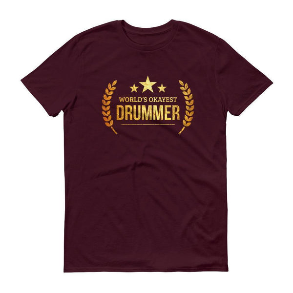 Men's World's Okayest Drummer tshirt personalized gifts for drummers-T-Shirt-BelDisegno-Maroon-S-BelDisegno