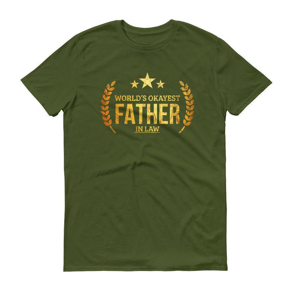 Men's World's Okayest Father in Law tshirt gifts for father in law on wedding day-T-Shirt-BelDisegno-City Green-S-BelDisegno