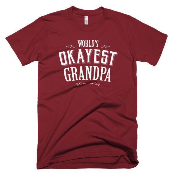 World's Okayest Grandpa Father's day gift T-shirt