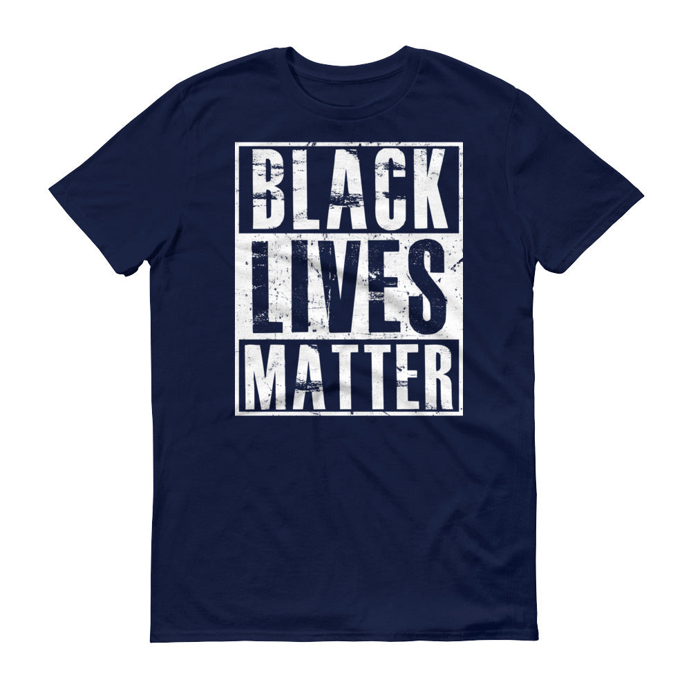 Black Lives Matter T-shirt racist violence Shirt Color: NavySize: S