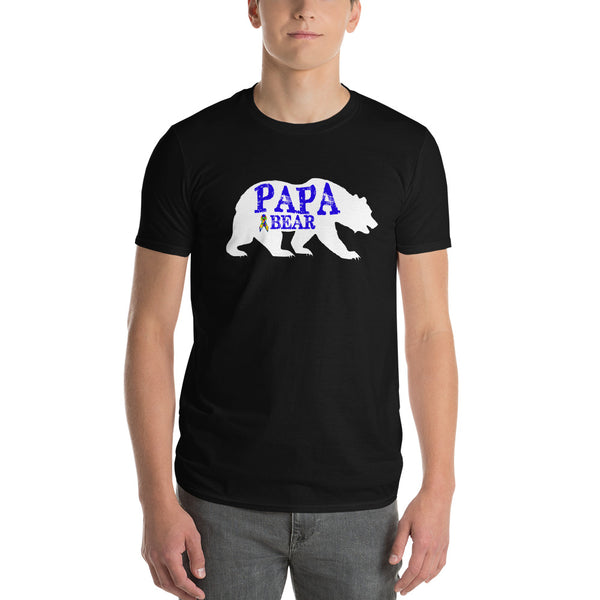 Autism Dad Gift | Autism Papa Bear Short-Sleeve T-Shirt | Gift for father of autistic child | Autism Awareness Black / 3X T-Shirt BelDisegno