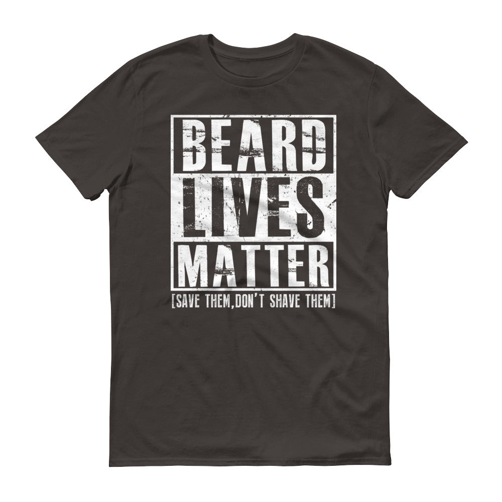 Beard Lives Matter T-shirt Funny Beard Shirt Color: SmokeSize: S