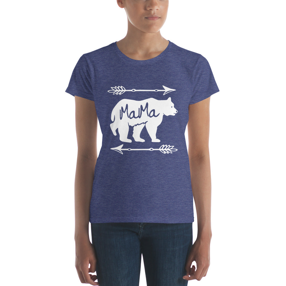 Mama Bear T-shirt - Mom gift t-shirt for mother's day Heather Blue / 2XL T-Shirt BelDisegno