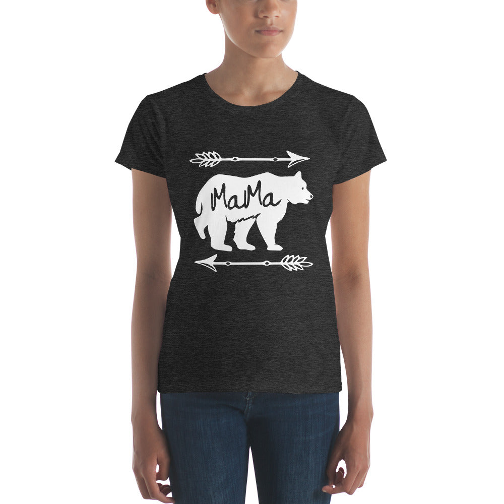 Mama Bear T-shirt - Mom gift t-shirt for mother's day Heather Dark Grey / 2XL T-Shirt BelDisegno