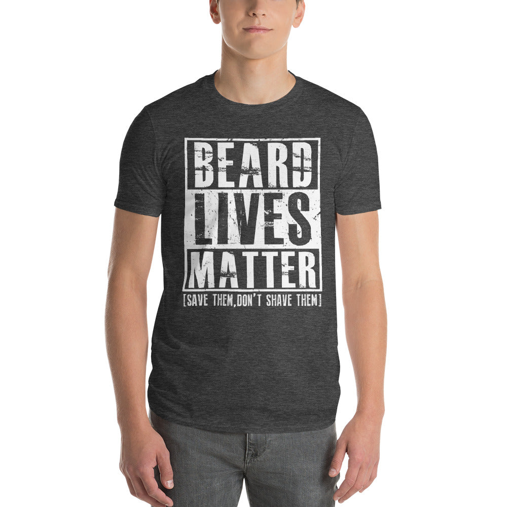 Beard Lives Matter T-shirt Funny Beard Shirt Color: Heather Dark GreySize: S