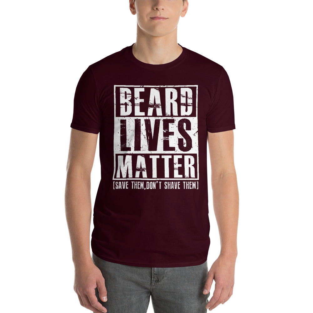Beard Lives Matter T-shirt Funny Beard Shirt Color: MaroonSize: S