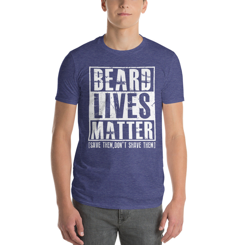 Beard Lives Matter T-shirt Funny Beard Shirt Color: Heather BlueSize: S
