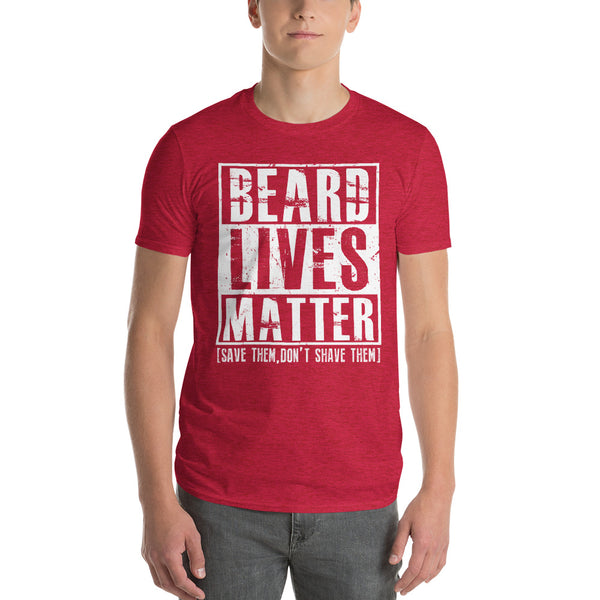 Beard Lives Matter T-shirt Funny Beard Shirt Heather Red / 3XL T-Shirt BelDisegno