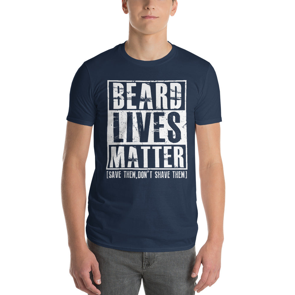 Beard Lives Matter T-shirt Funny Beard Shirt Color: LakeSize: S