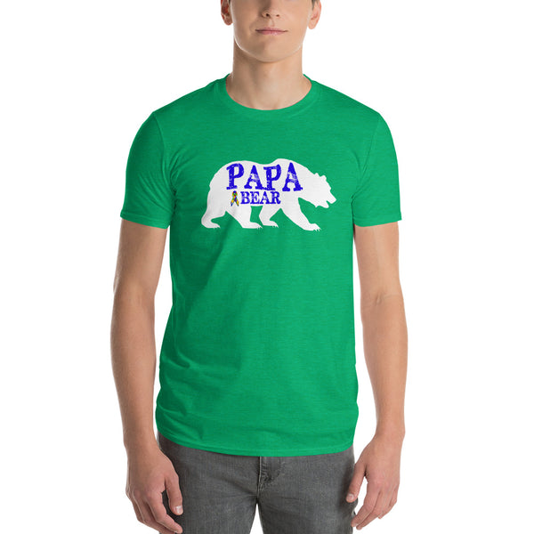 Autism Dad Gift | Autism Papa Bear Short-Sleeve T-Shirt | Gift for father of autistic child | Autism Awareness Heather Green / 3X T-Shirt BelDisegno