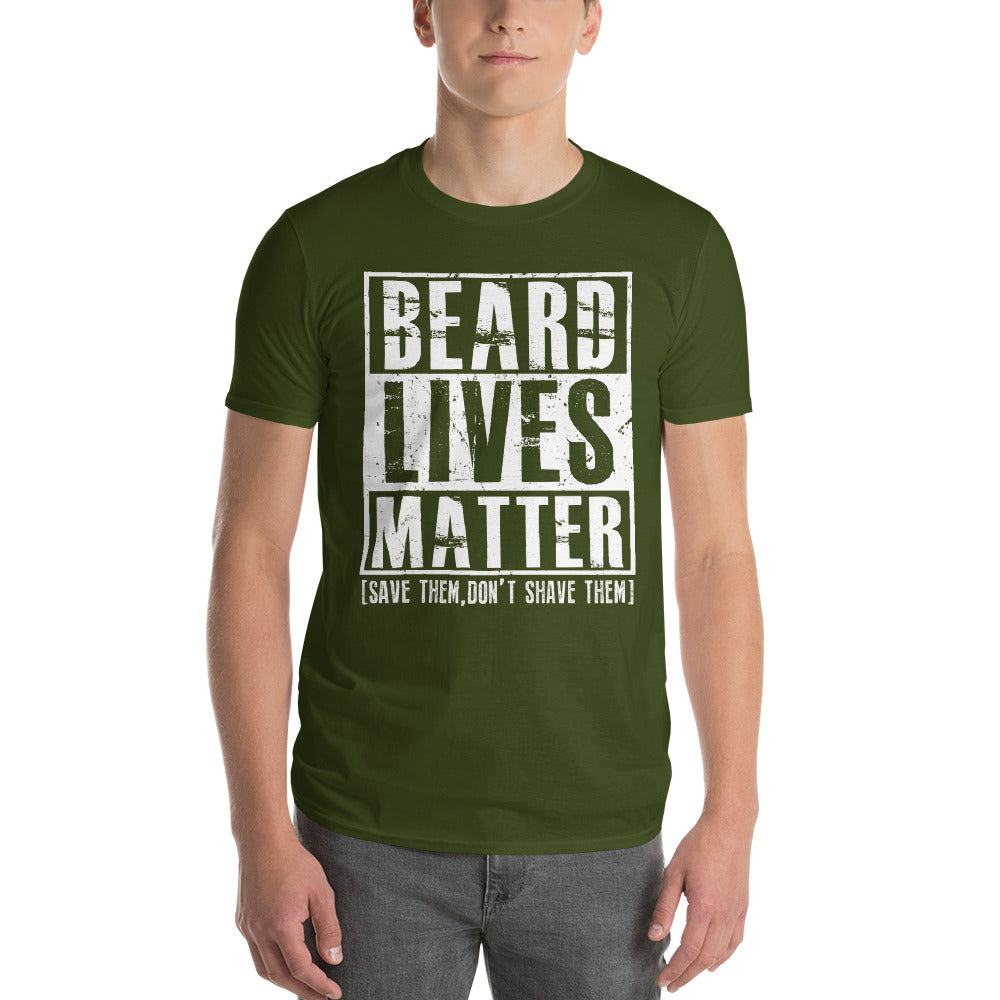 Beard Lives Matter T-shirt Funny Beard Shirt Color: City GreenSize: S
